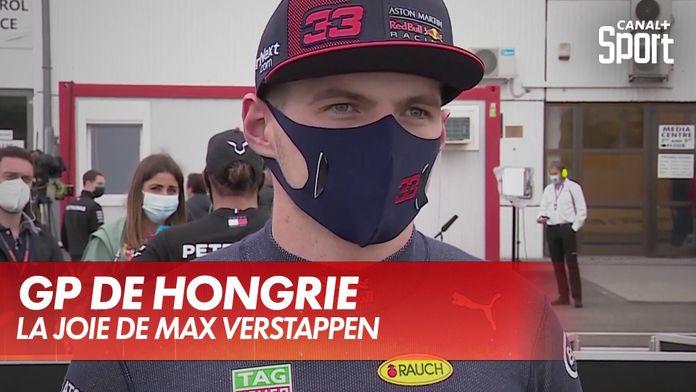 La joie de Max Verstappen après le