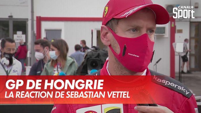 La réaction de Sebastian Vettel ap