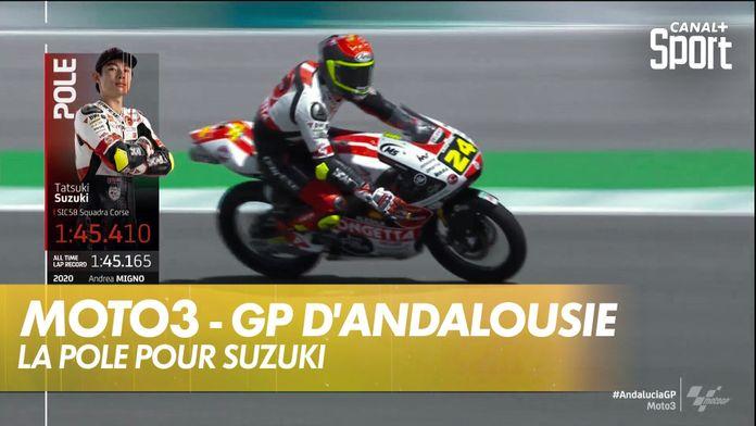 La pole de Tatsuki Suzuki en Andalousie : Moto3