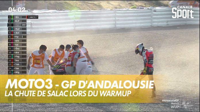 La chute de Salac en Warmup : Moto3