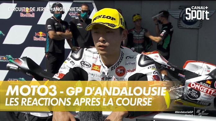 Les réactions des 3 premiers pilotes ! : Moto3