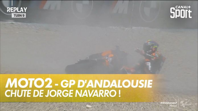 Chute de Jorge Navarro : Moto2