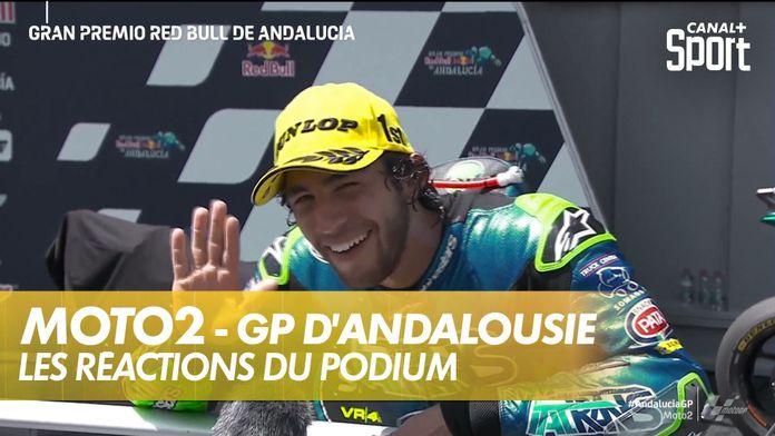 Les réactions du podium : Moto2