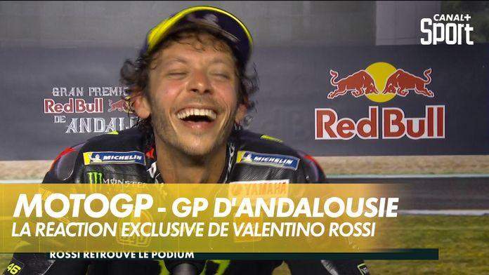 La réaction de Valentino Rossi après sa 3ème place : MotoGP