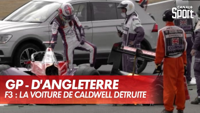 GP d'Angleterre - F3 : la voiture d'Olli Caldwell détruite : Formule 1