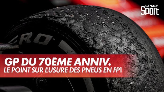Le point sur l'usure des pneus en FP1 : Grand Prix du 70ème anniversaire