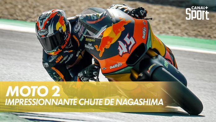 L'impressionnante chute de Tetsuta Nagashima : Moto 2