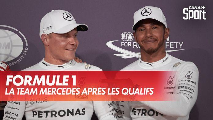 Bottas, Hamilton et Hülkenberg après les qualifications : Grand Prix du 70ème anniversaire