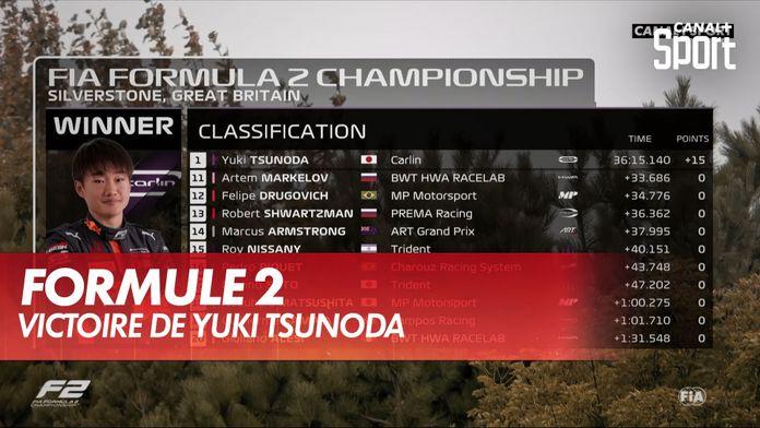 Victoire de Yuki Tsunoda : Formule 2 Silverstone