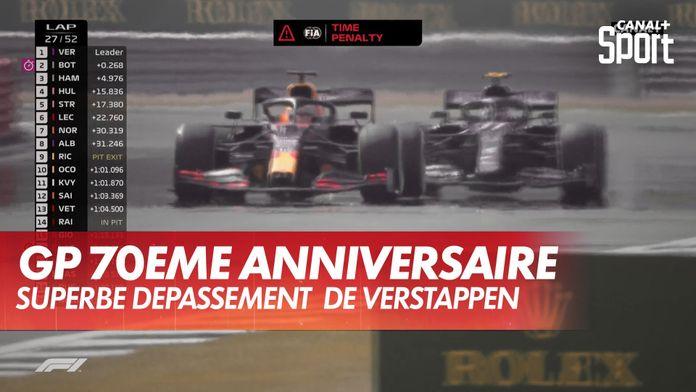 Superbe dépassement de Verstappen : Grand Prix du 70ème anniversaire