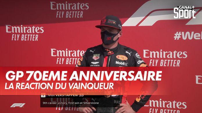 """Max Verstappen : """"je ne voulais me comporter comme une grand mère"""" : Grand Prix du 70ème anniversaire"""