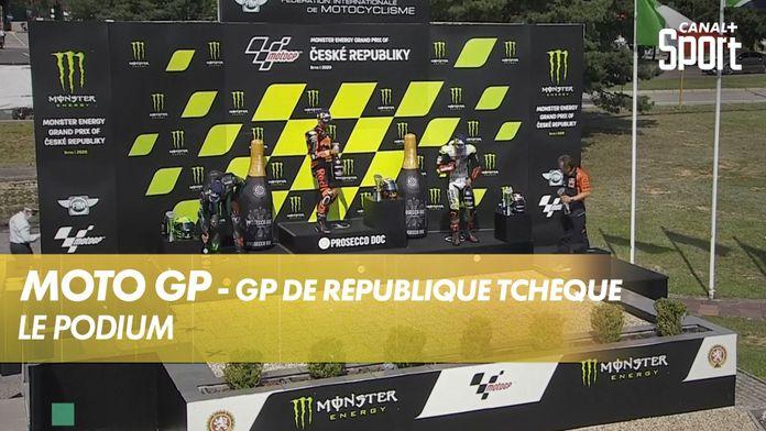 Le podium de la course : MotoGP