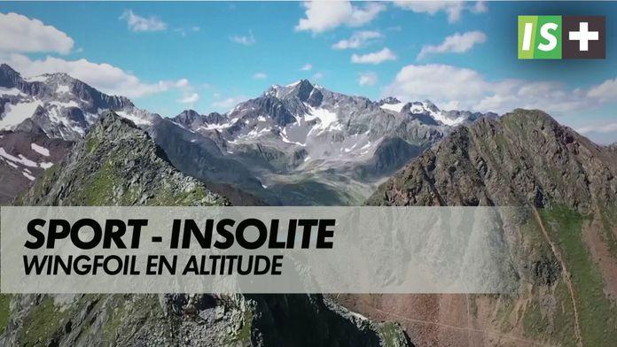 Wingfoil en altitude : Insolite