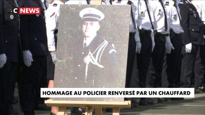 Gérald Darmanin a rendu hommage au policier renversé par un chauffard