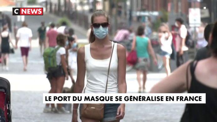 Le port du masque se généralise en France