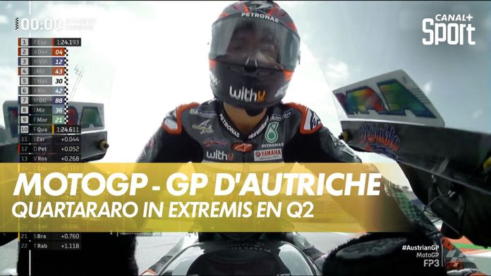 Quaratararo directement en Q2 : GP d'Autriche MotoGP