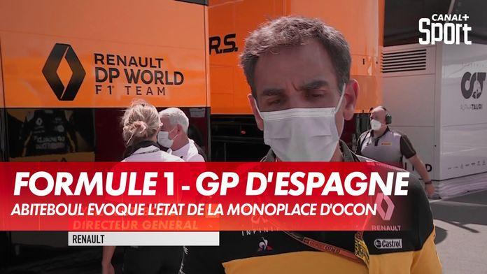 Abiteboul évoque l'état de la monoplace d'Ocon : Grand Prix d'Espagne