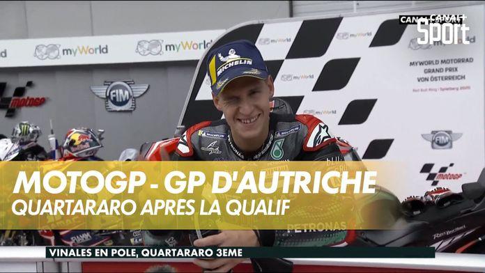 """Quartararo """"très content"""" de sa 3ème place en Autriche : MotoGP"""