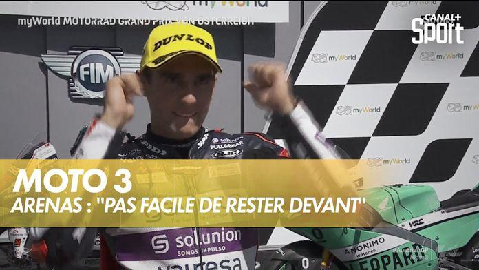 """Arenas : """"c'était pas facile de rester devant"""" : Austrian GP"""
