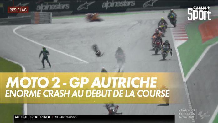 Énorme crash en début de course : Moto 2 Autriche GP