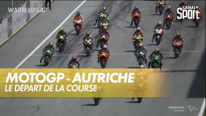 Le départ de la course : MotoGP Grand prix d'Autriche