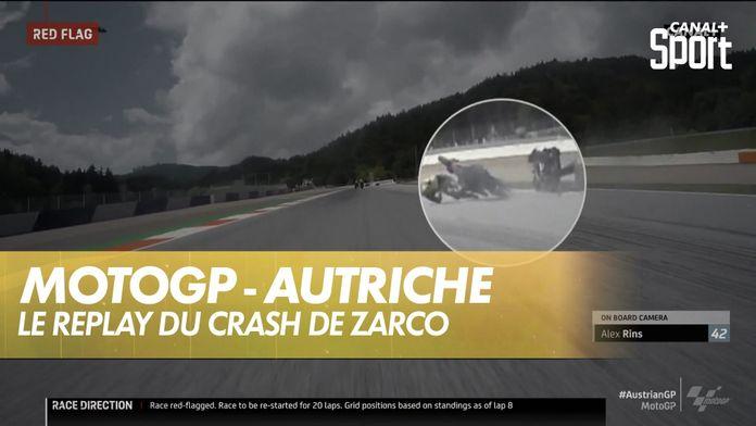 Le replay du crash de Zarco : MotoGP Grand prix d'Autriche