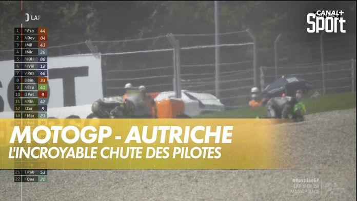 L'incroyable chute des pilotes : MotoGP Grand prix d'Autriche