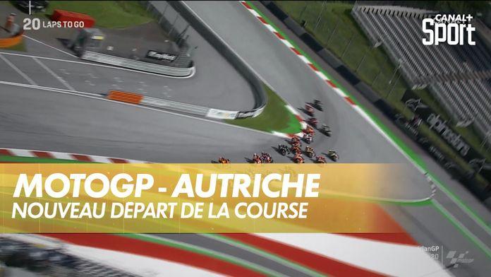 Nouveau départ de la course : MotoGP Grand prix d'Autriche