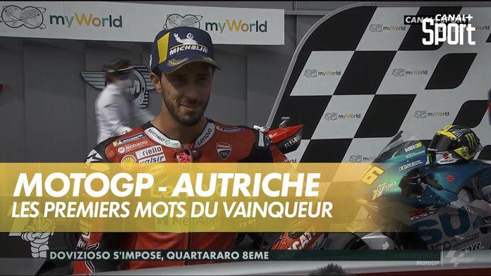 La réaction du vainqueur : MotoGP Grand prix d'Autriche