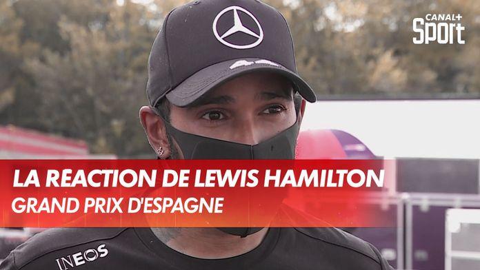 La réaction du vainqueur Lewis Hamilton : Grand Prix d'Espagne