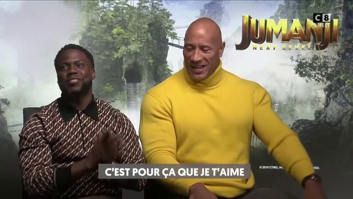 Le sketch et l'interview exclusive de Dwayne Johnson et Kevin Hart par Cyril Hanouna