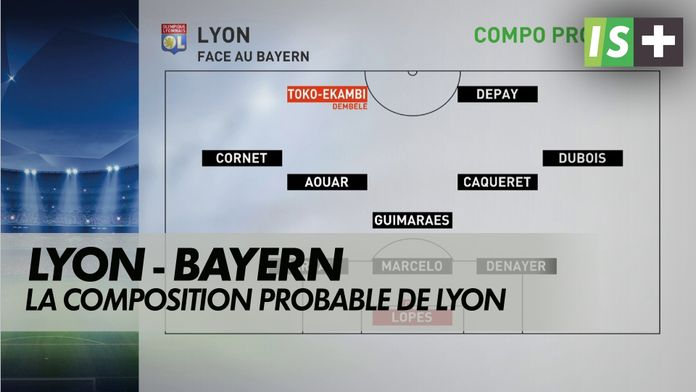 La compo probable de l'OL : Ligue des Champions- OL / Bayern