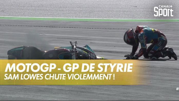Chute de Sam Lowes, sa moto en feu : MotoGP