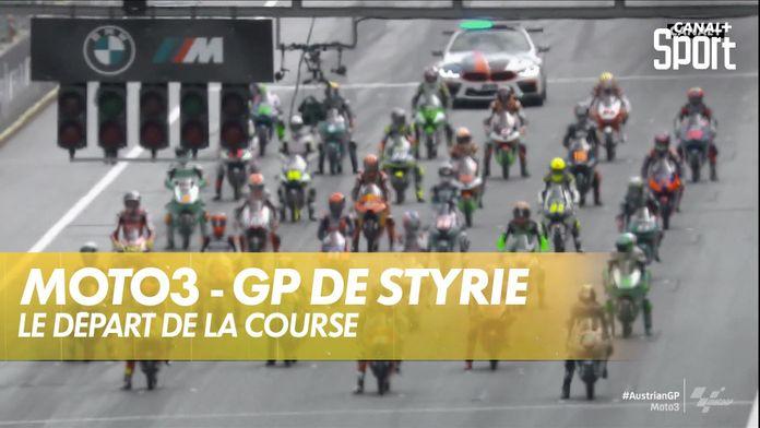 Le départ du GP de Styrie : Moto 3