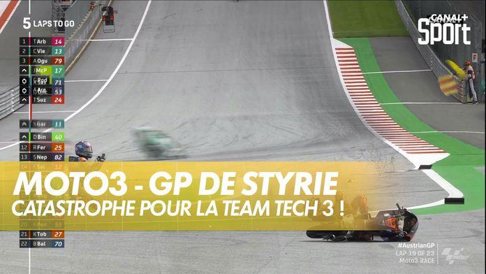 Le crash entre les 2 Tech 3 :  GP de Styrie Moto 3