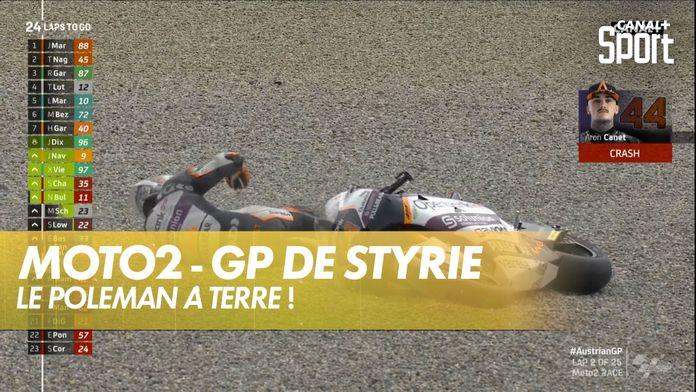 La chute d'Aron Canet ! : GP de Styrie Moto2