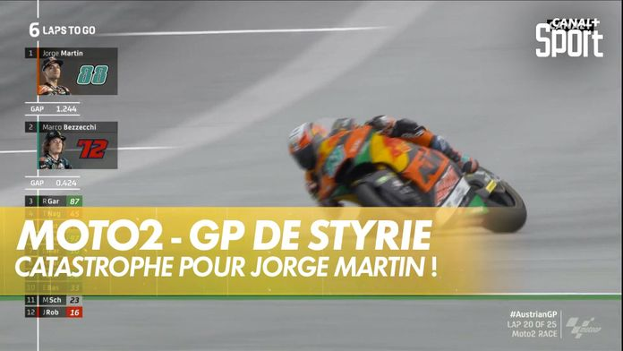 Jorge Martin s'impose ... puis perd sa victoire ! : GP de Styrie Moto2