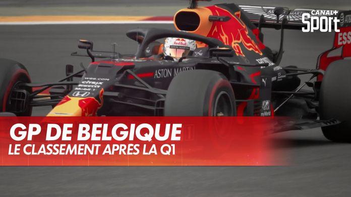 Le classement après la Q1 : Grand Prix de Belgique