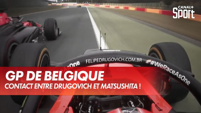 Contact entre Drugovich et Matsushita ! : Grand Prix de Belgique