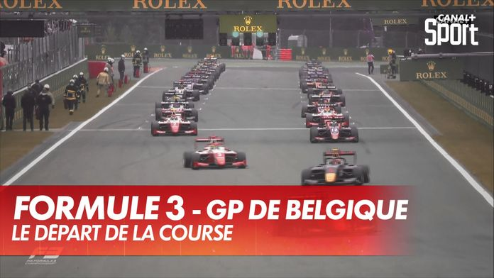 Le départ de la course : Grand Prix de Belgique Formule 3