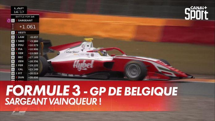 Sargeant s'impose, Pourchaire 5ème : GP de Belgique Formule 3