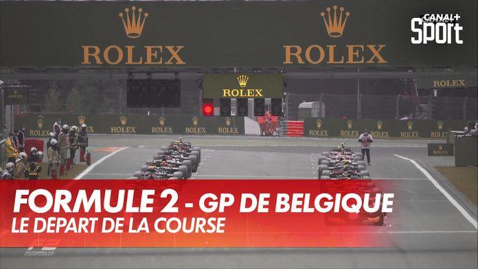 Le départ de la course : GP de Belgique Formule 2