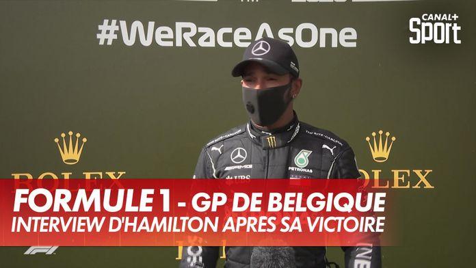 """Hamilton : """"J'ai toujours à apprendre"""" : Grand Prix de Belgique"""