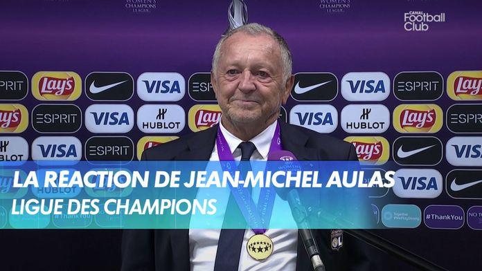 La réaction de Jean-Michel Aulas après Lyon - Wolfsbourg : UEFA Women's Champions League
