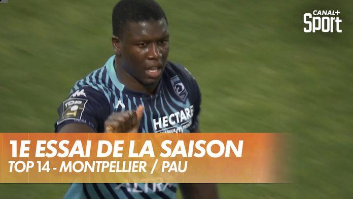 Le premier essai de la saison est pour Montpellier ! : Montpellier / Pau