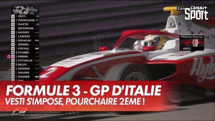 Vesti vainqueur, Pourchaire 2ème : GP d'Italie Formule 3