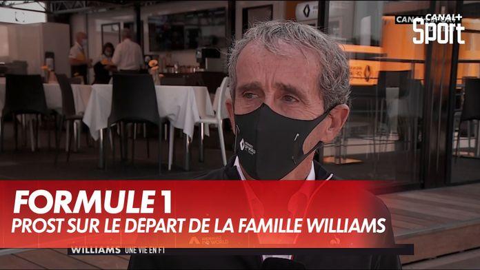 """""""La fin d'une histoire"""" - Alain Prost sur le départ de la famille Williams : Grand Prix d'Italie"""