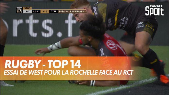 Essai de West pour le Stade Rochelais : TOP 14