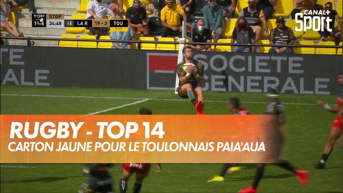 Le Toulonnais Paia'aua prend un jaune : TOP 14