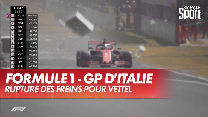 Rupture des freins pour Vettel : Grand Prix d'Italie